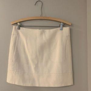 Cream wool mini skirt